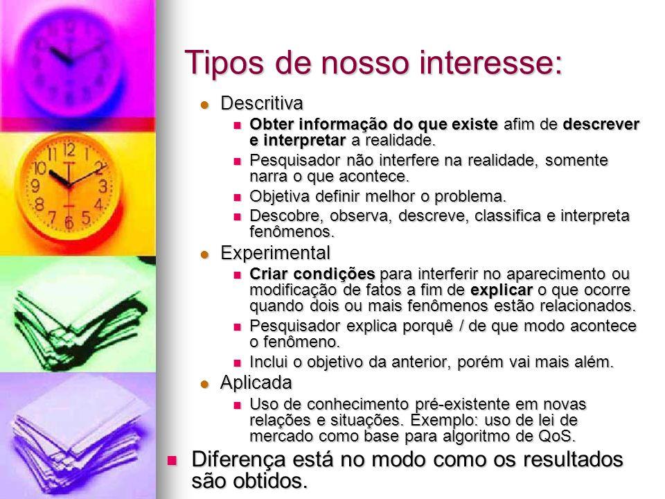 Tipos de nosso interesse: