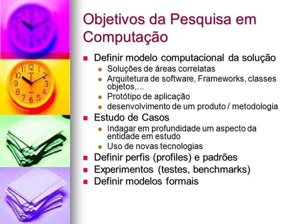 Objetivos da Pesquisa em Computação