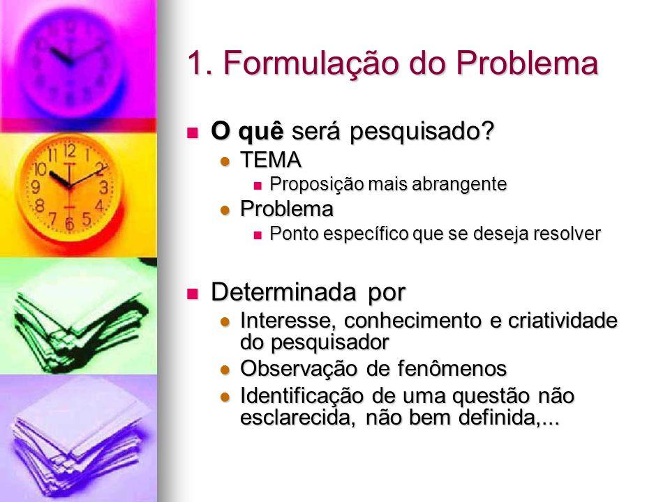 1. Formulação do Problema