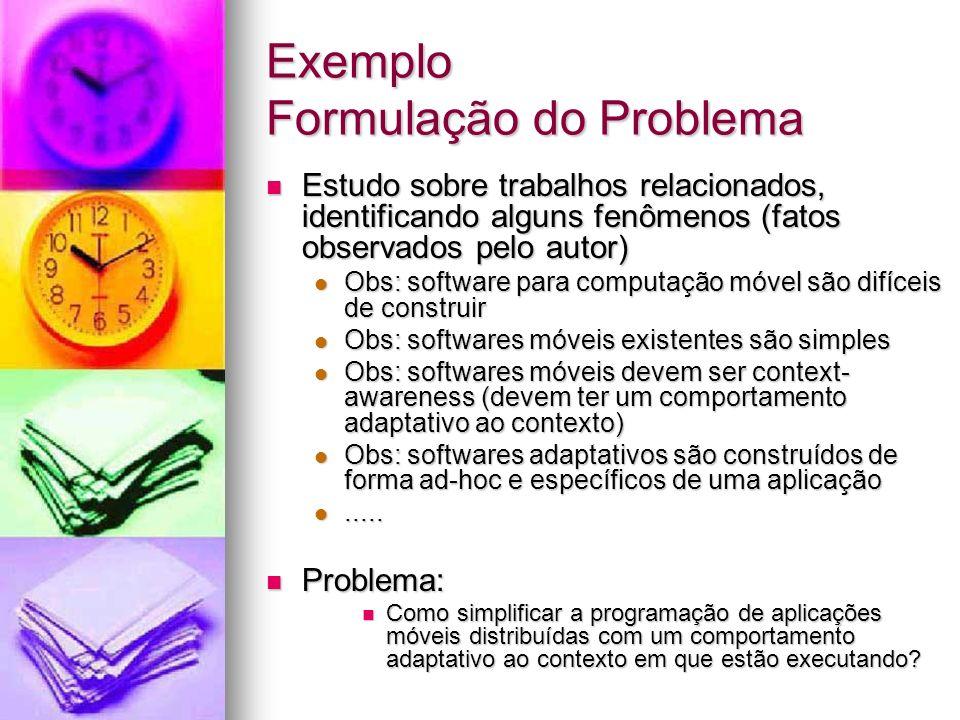 Exemplo Formulação do Problema