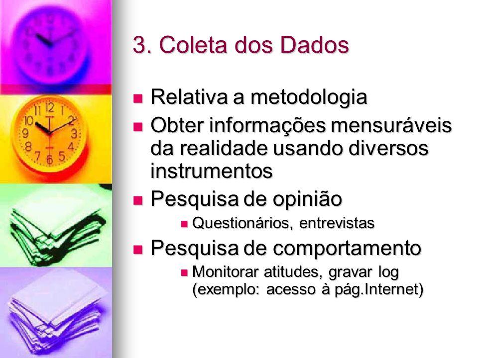 3. Coleta dos Dados Relativa a metodologia