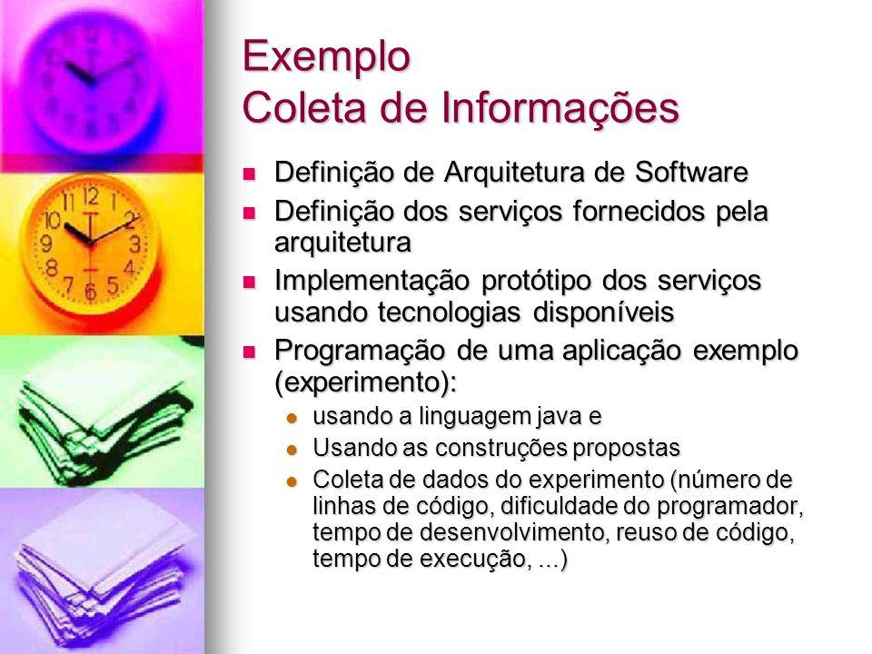 Exemplo Coleta de Informações