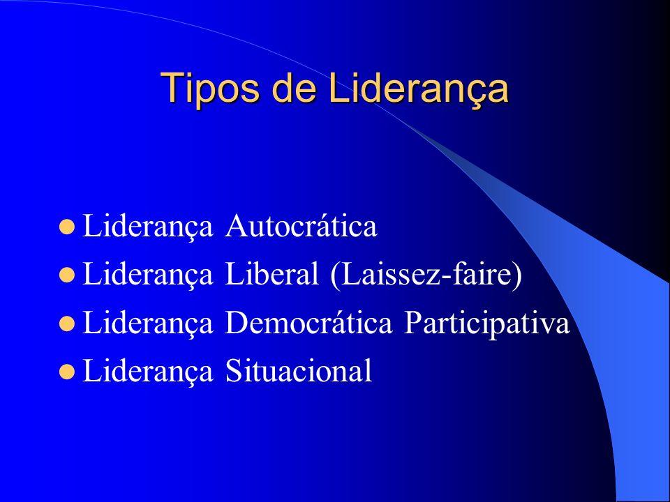 Tipos de Liderança Liderança Autocrática