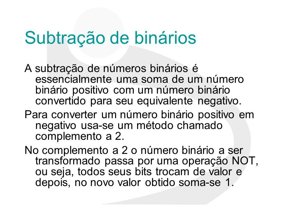 Subtração de binários