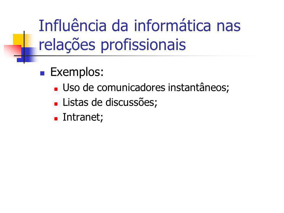 Influência da informática nas relações profissionais
