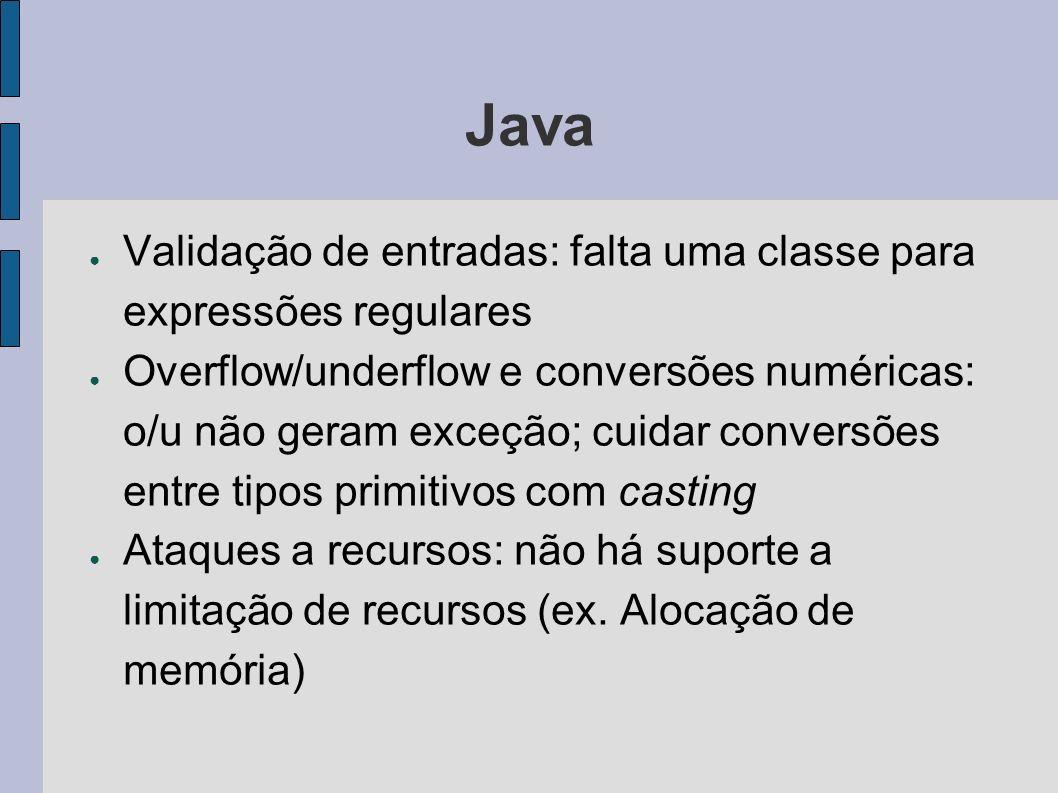 Java Validação de entradas: falta uma classe para expressões regulares