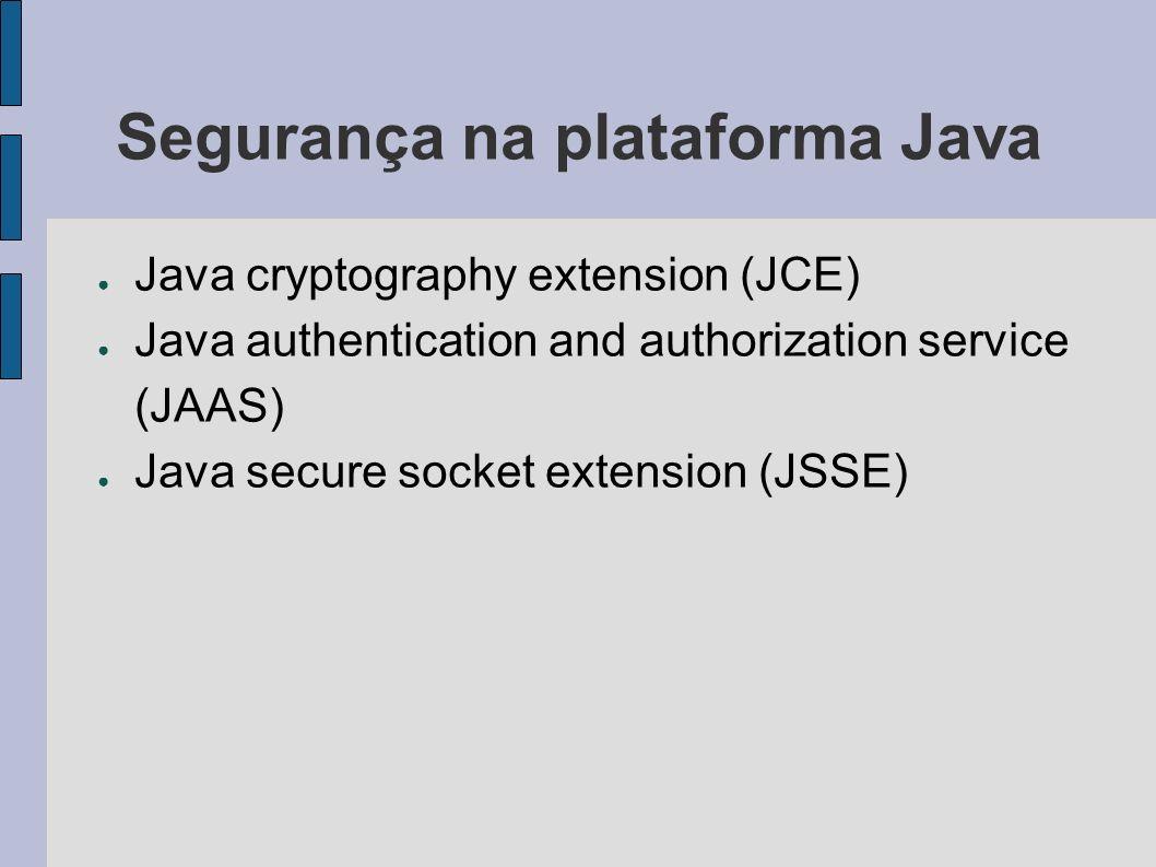 Segurança na plataforma Java
