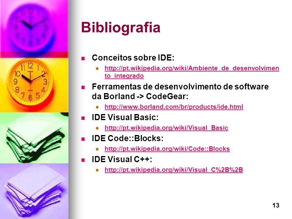 Bibliografia Conceitos sobre IDE: