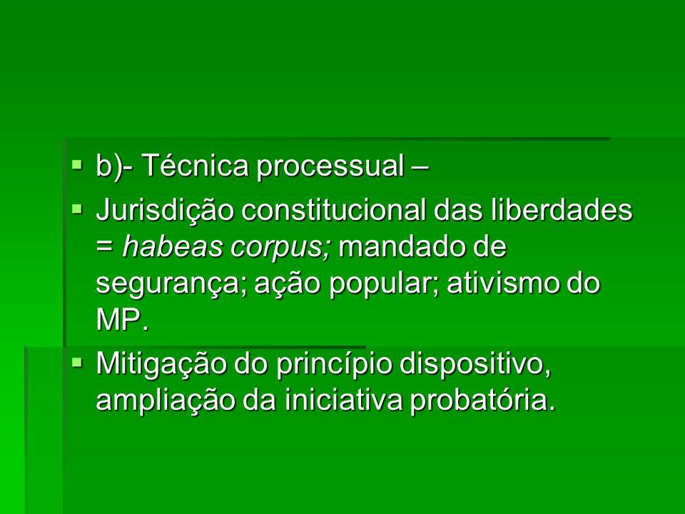 b)- Técnica processual –