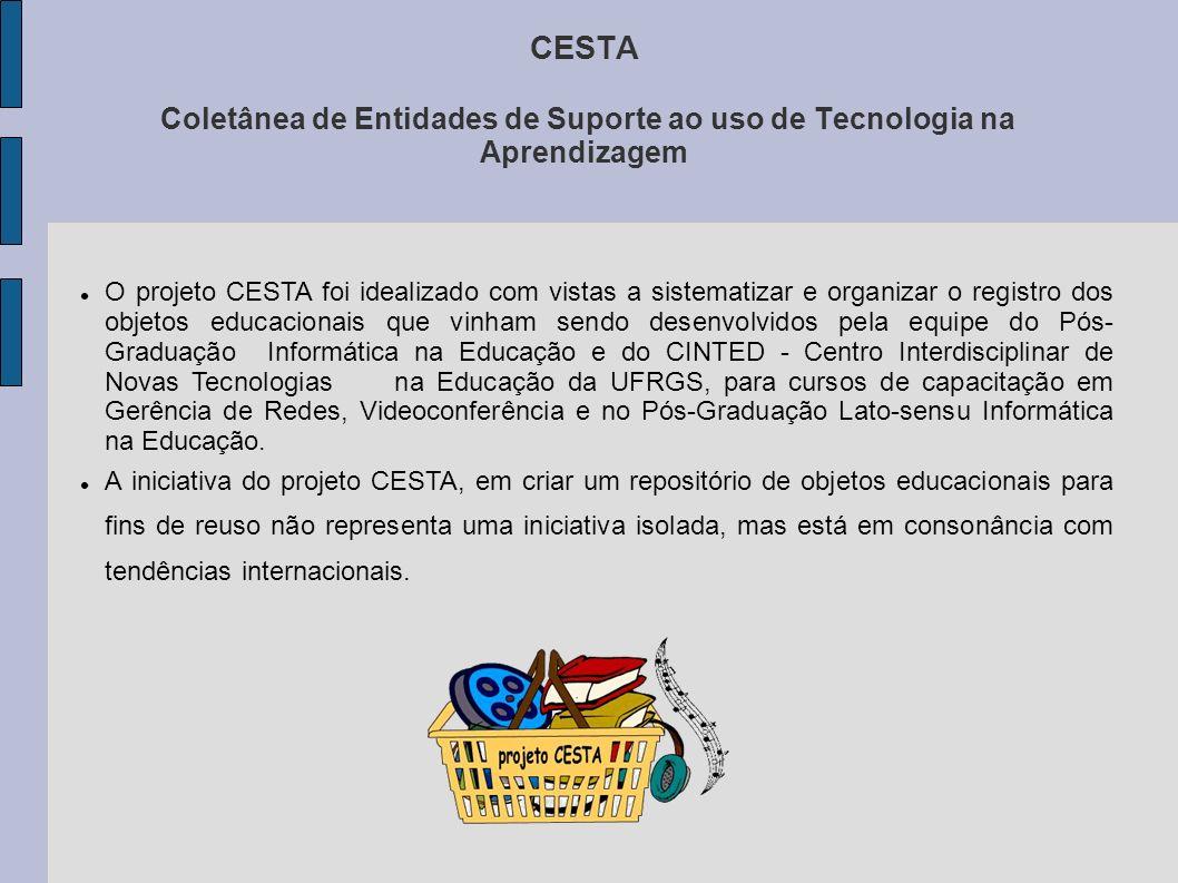 CESTA Coletânea de Entidades de Suporte ao uso de Tecnologia na Aprendizagem