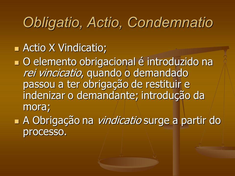 Obligatio, Actio, Condemnatio