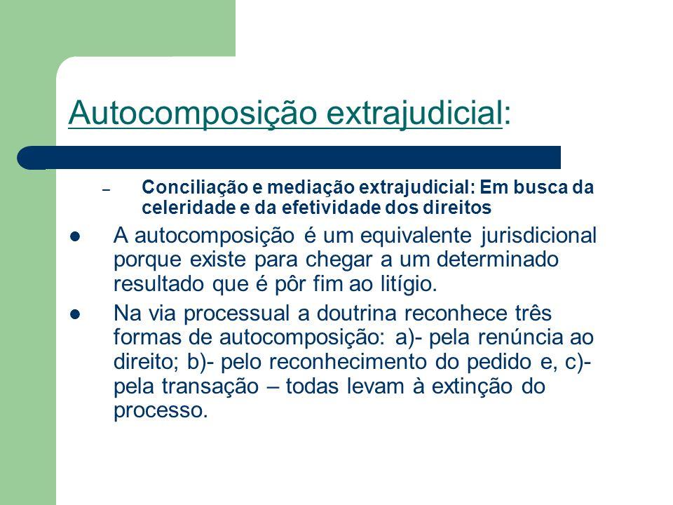 Autocomposição extrajudicial: