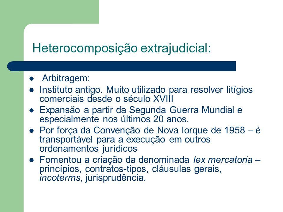 Heterocomposição extrajudicial: