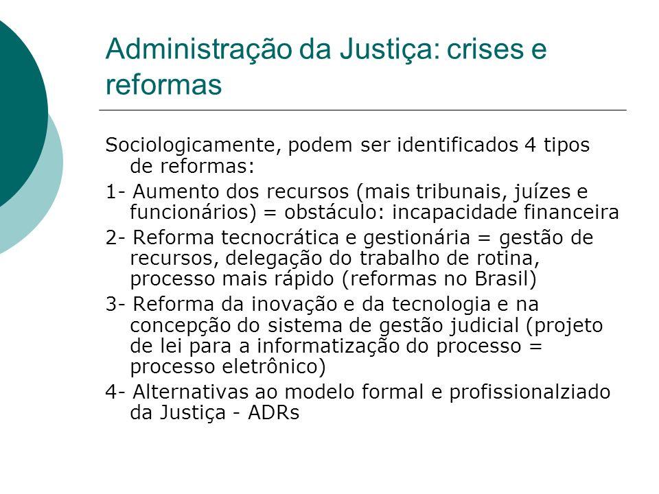 Administração da Justiça: crises e reformas