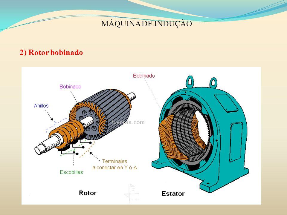 MÁQUINA DE INDUÇÃO 2) Rotor bobinado