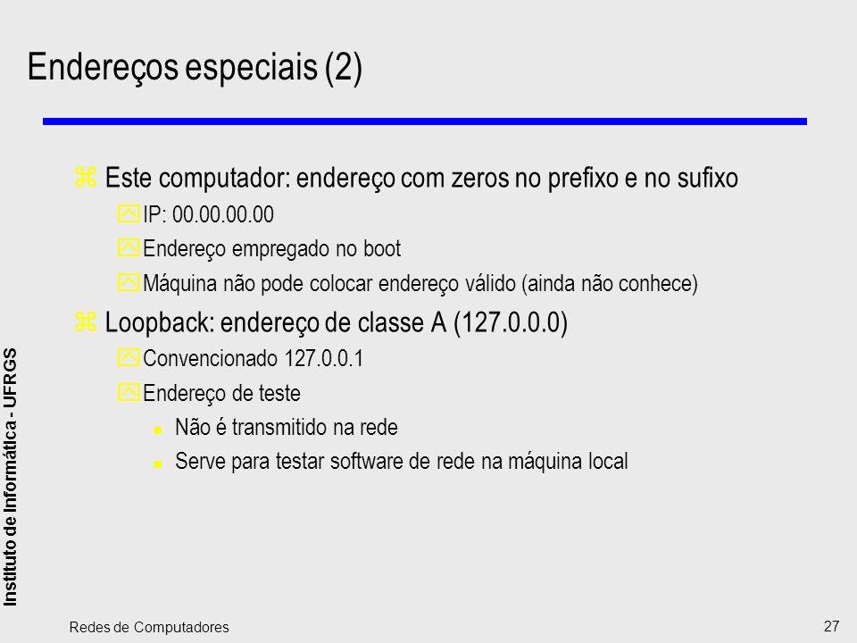 Endereços especiais (2)