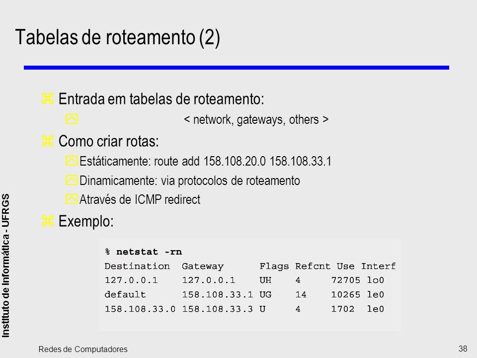 Tabelas de roteamento (2)