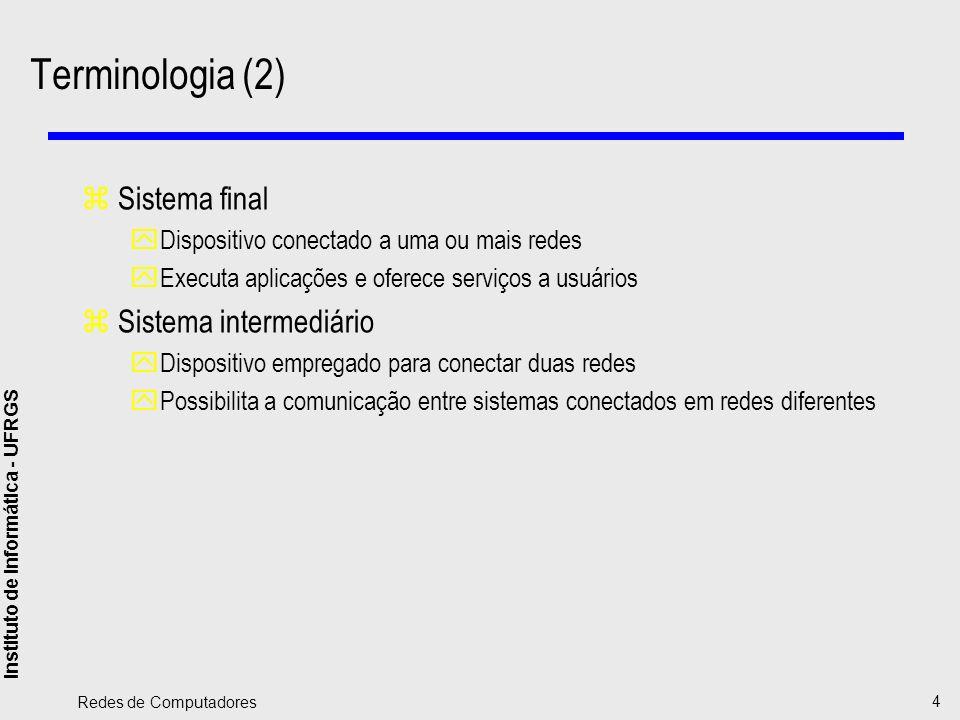 Terminologia (2) Sistema final Sistema intermediário