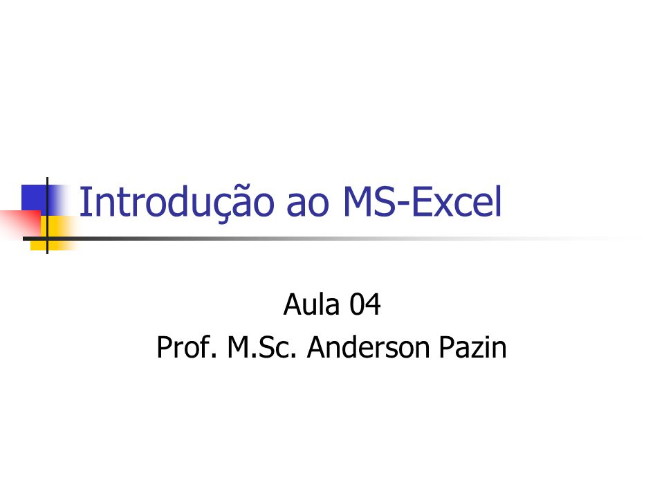 Introdução ao MS-Excel