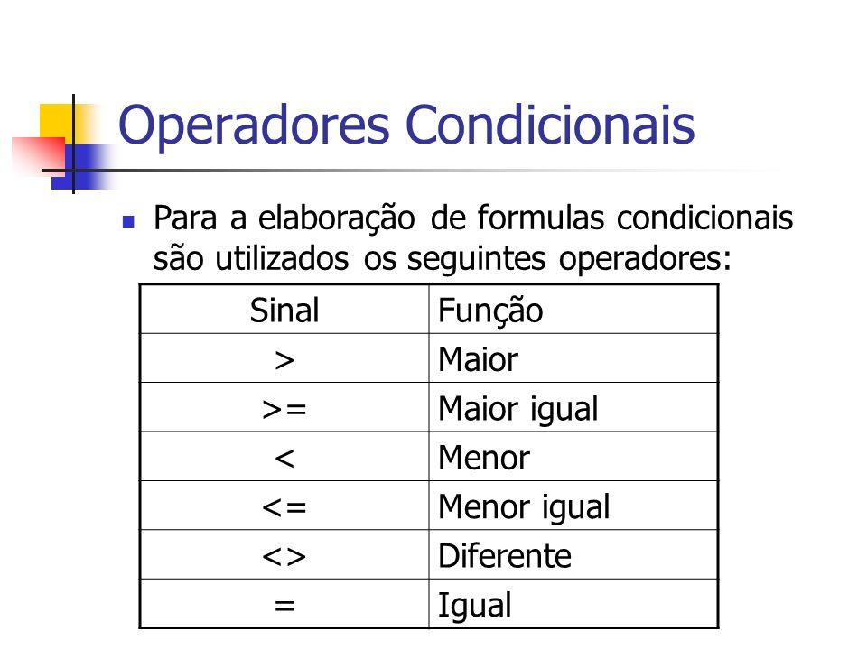 Operadores Condicionais