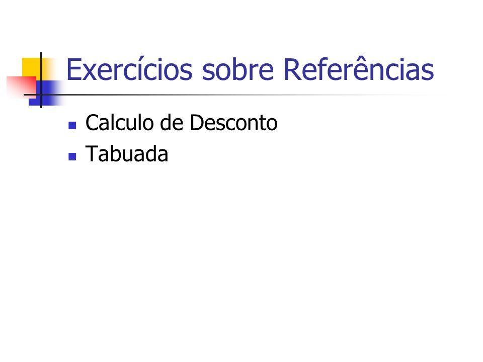 Exercícios sobre Referências