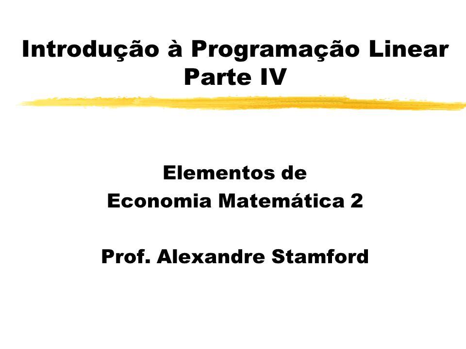 Introdução à Programação Linear Parte IV