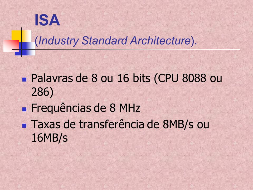 ISA (Industry Standard Architecture).