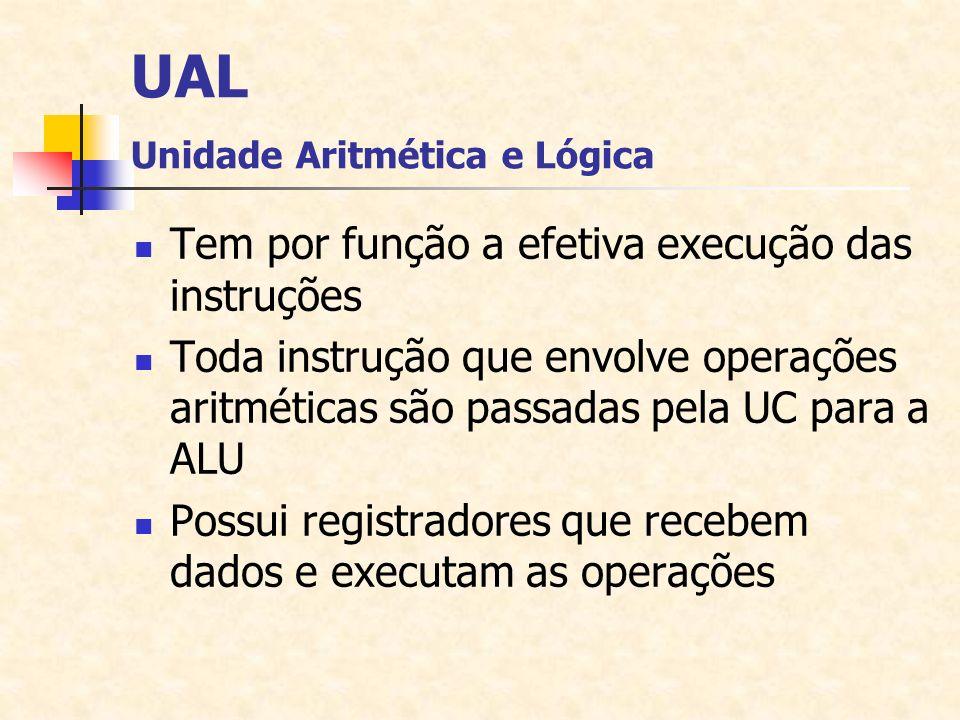UAL Unidade Aritmética e Lógica