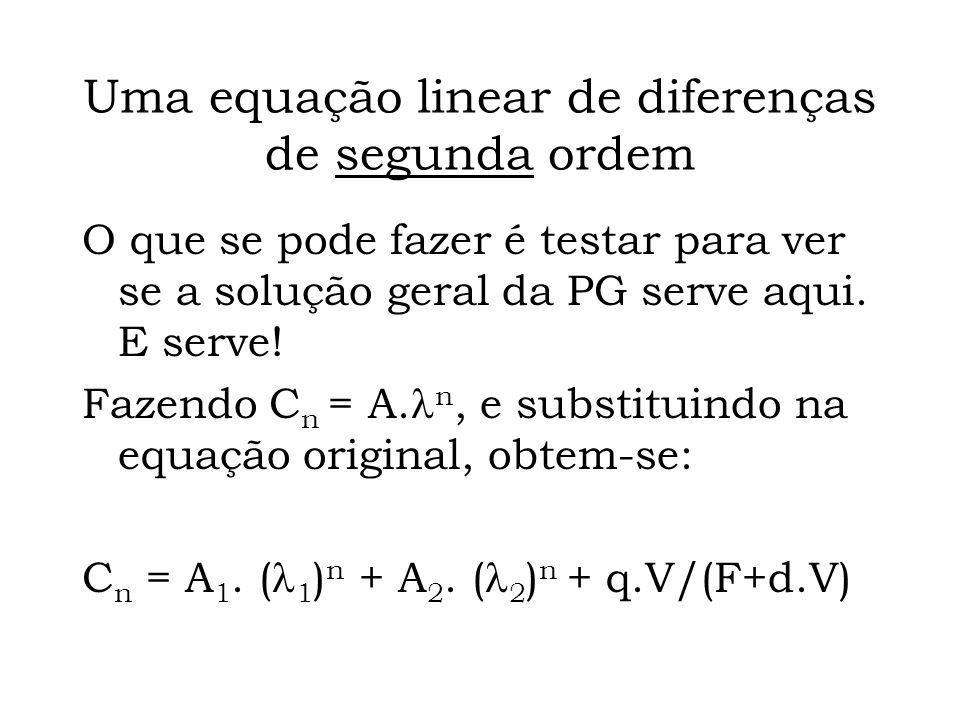 Uma equação linear de diferenças de segunda ordem