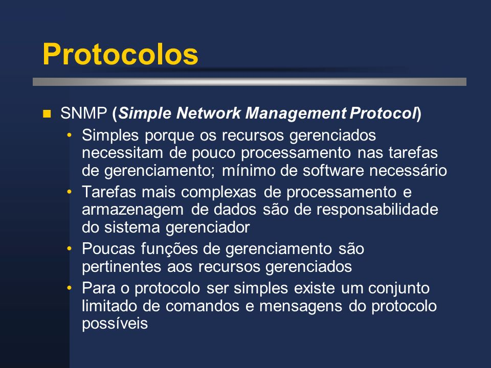 Protocolos SNMP (Simple Network Management Protocol)