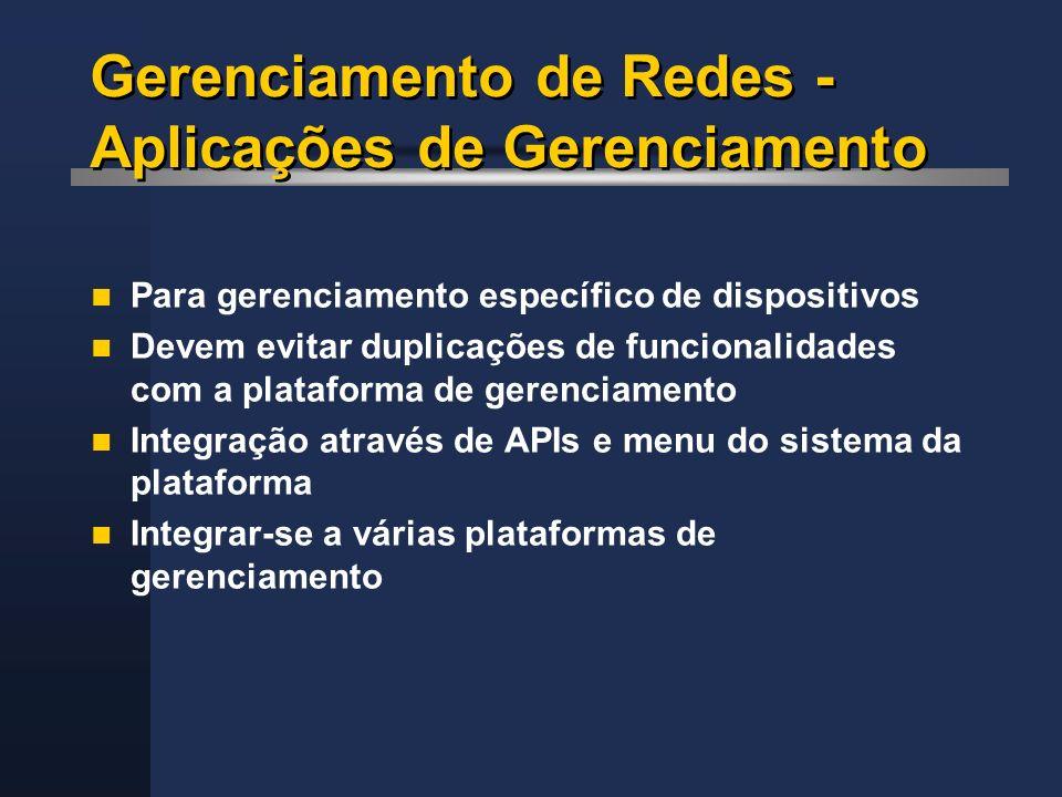 Gerenciamento de Redes - Aplicações de Gerenciamento
