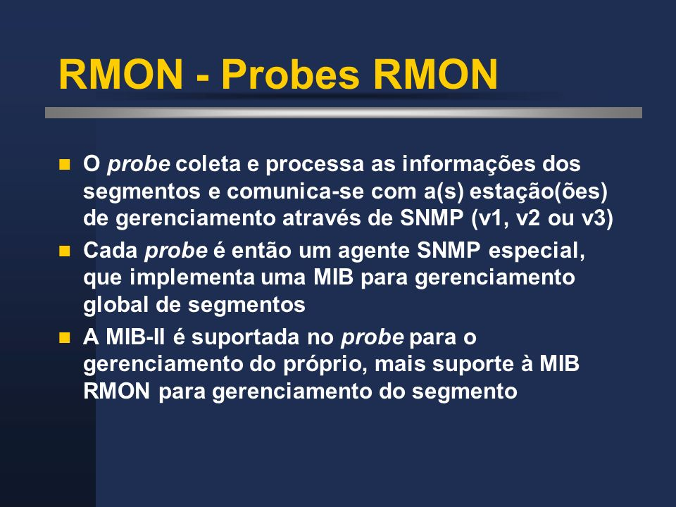 RMON - Probes RMON