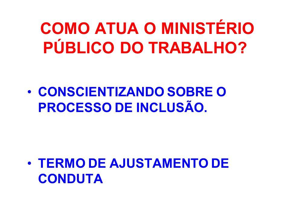 COMO ATUA O MINISTÉRIO PÚBLICO DO TRABALHO