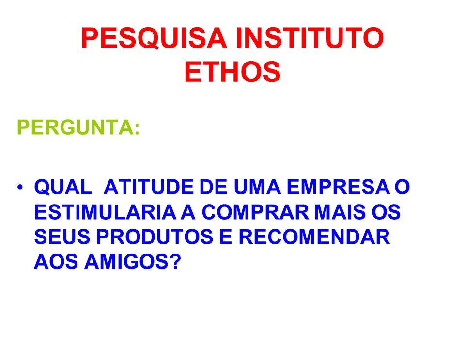 PESQUISA INSTITUTO ETHOS