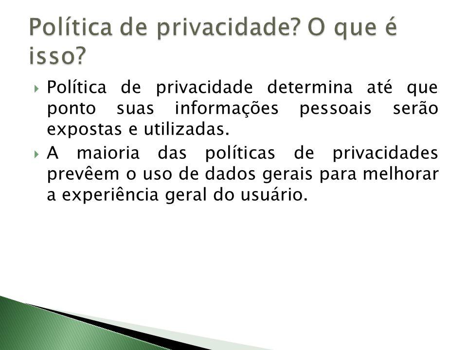 Política de privacidade O que é isso