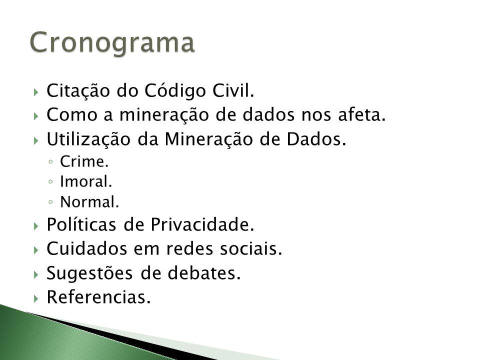 Cronograma Citação do Código Civil.