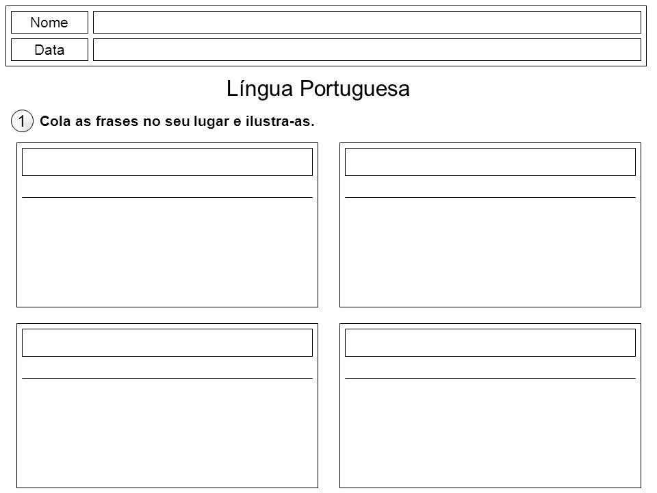 Língua Portuguesa 1 Nome Data