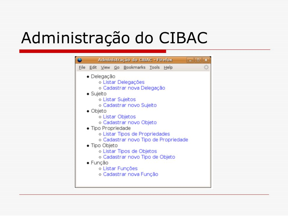 Administração do CIBAC