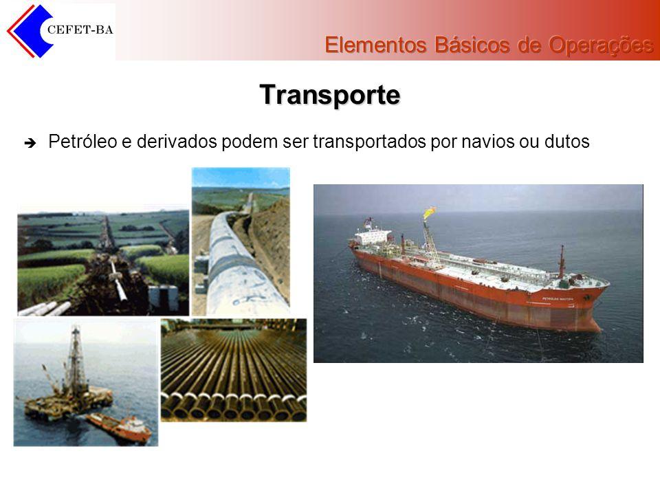 Transporte Petróleo e derivados podem ser transportados por navios ou dutos