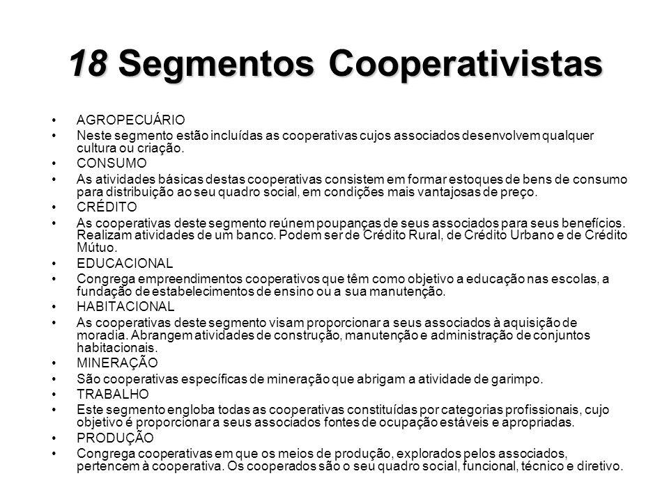 18 Segmentos Cooperativistas