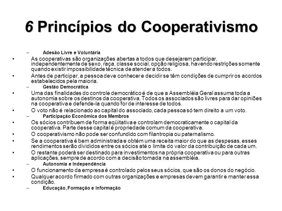 6 Princípios do Cooperativismo