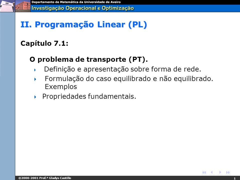 II. Programação Linear (PL)