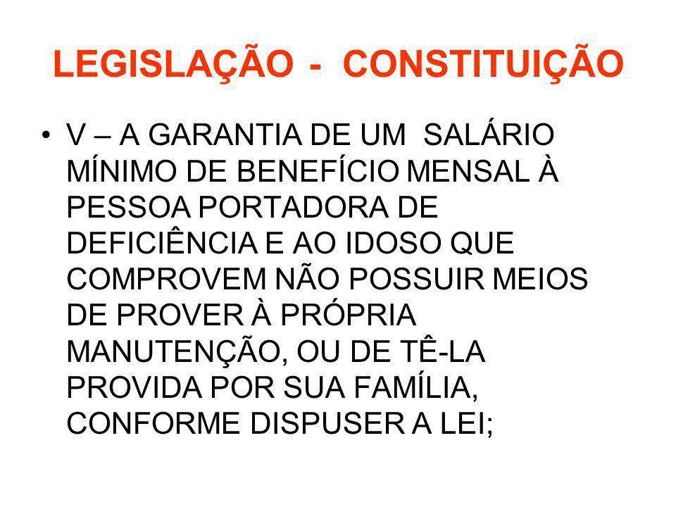 LEGISLAÇÃO - CONSTITUIÇÃO