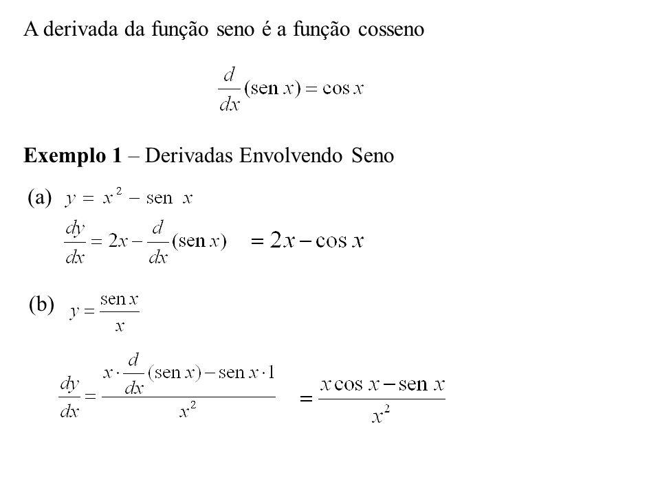 A derivada da função seno é a função cosseno