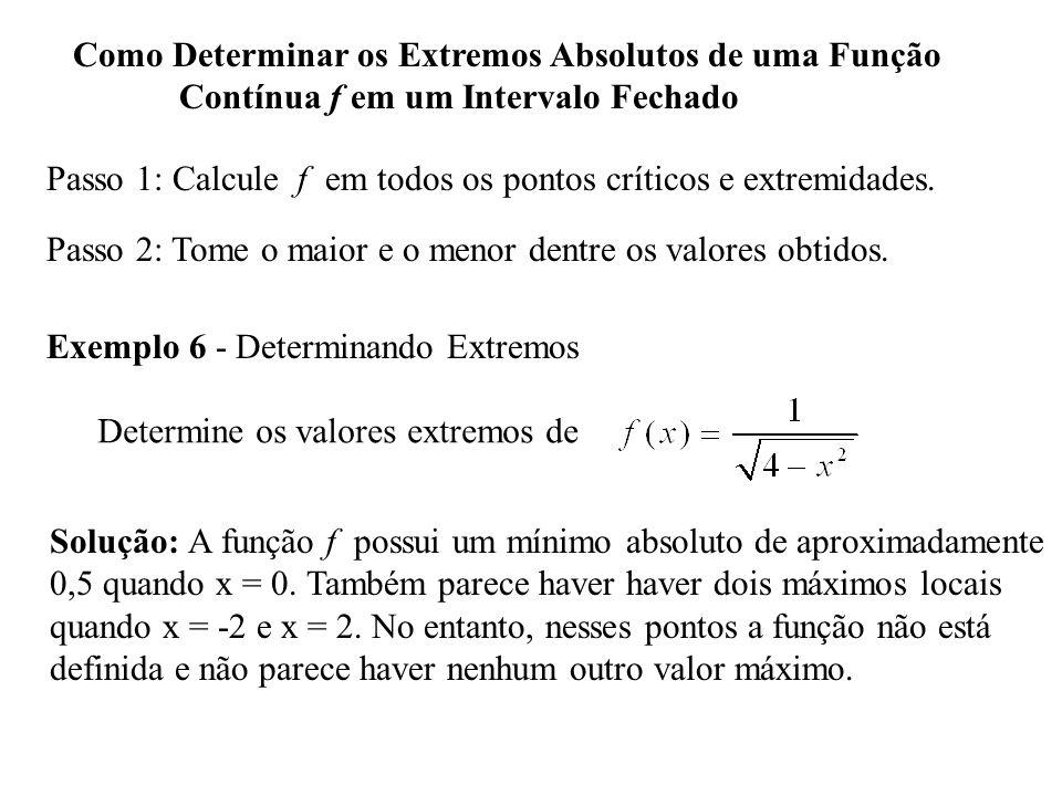 Como Determinar os Extremos Absolutos de uma Função