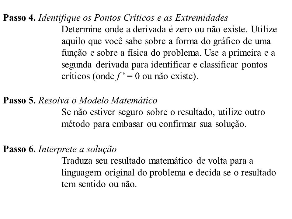 Passo 4. Identifique os Pontos Críticos e as Extremidades