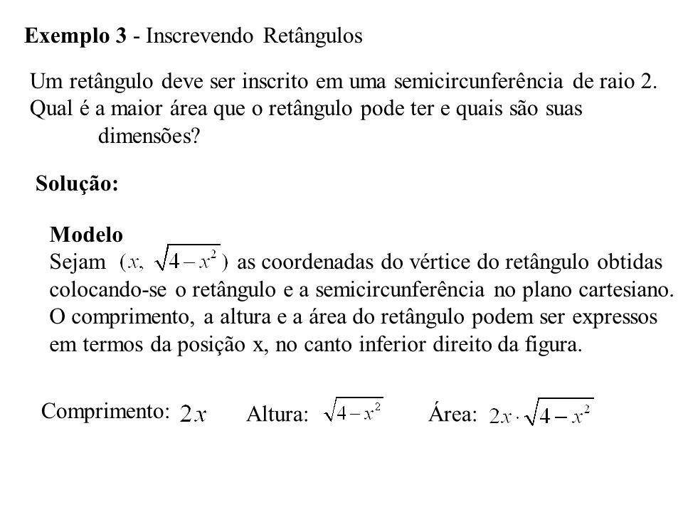 Exemplo 3 - Inscrevendo Retângulos
