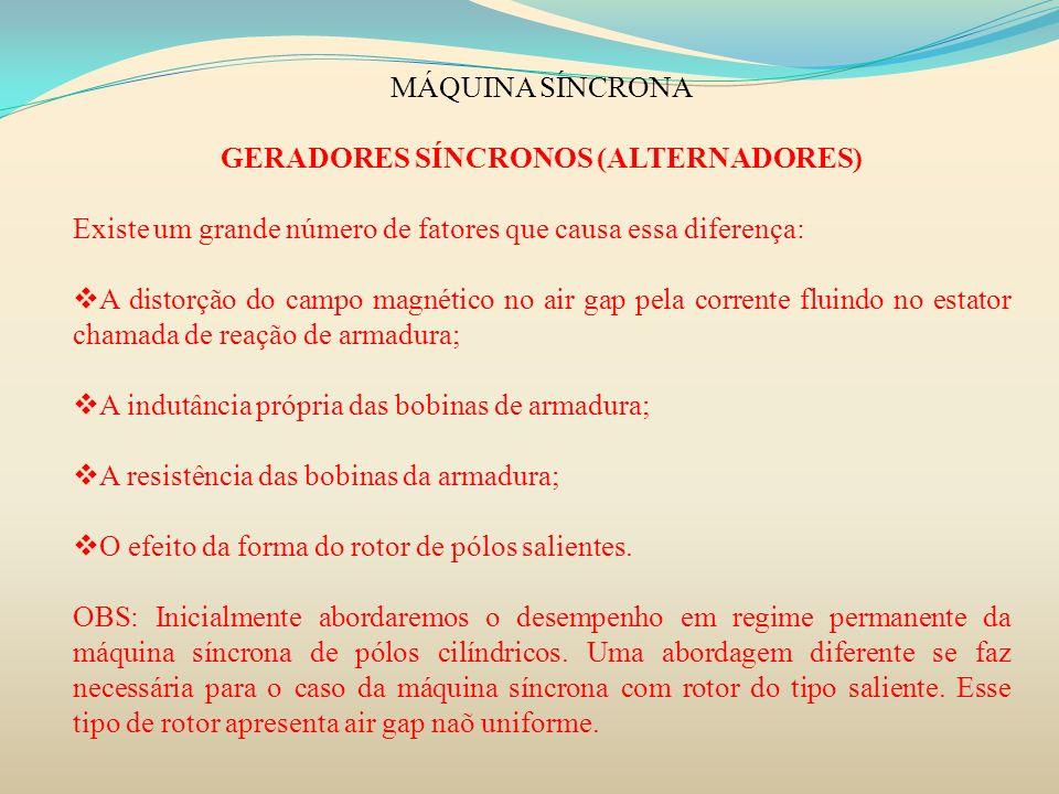 GERADORES SÍNCRONOS (ALTERNADORES)
