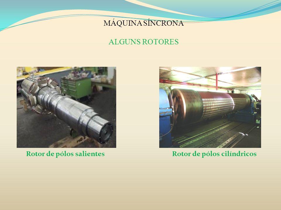 MÁQUINA SÍNCRONA ALGUNS ROTORES Rotor de pólos salientes