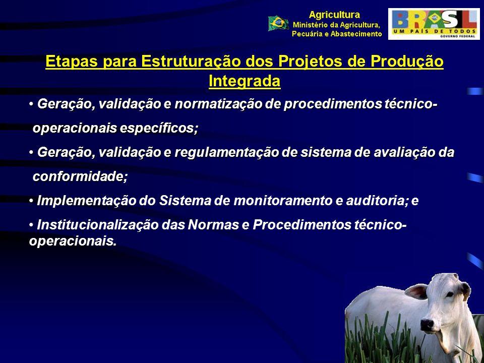 Etapas para Estruturação dos Projetos de Produção Integrada